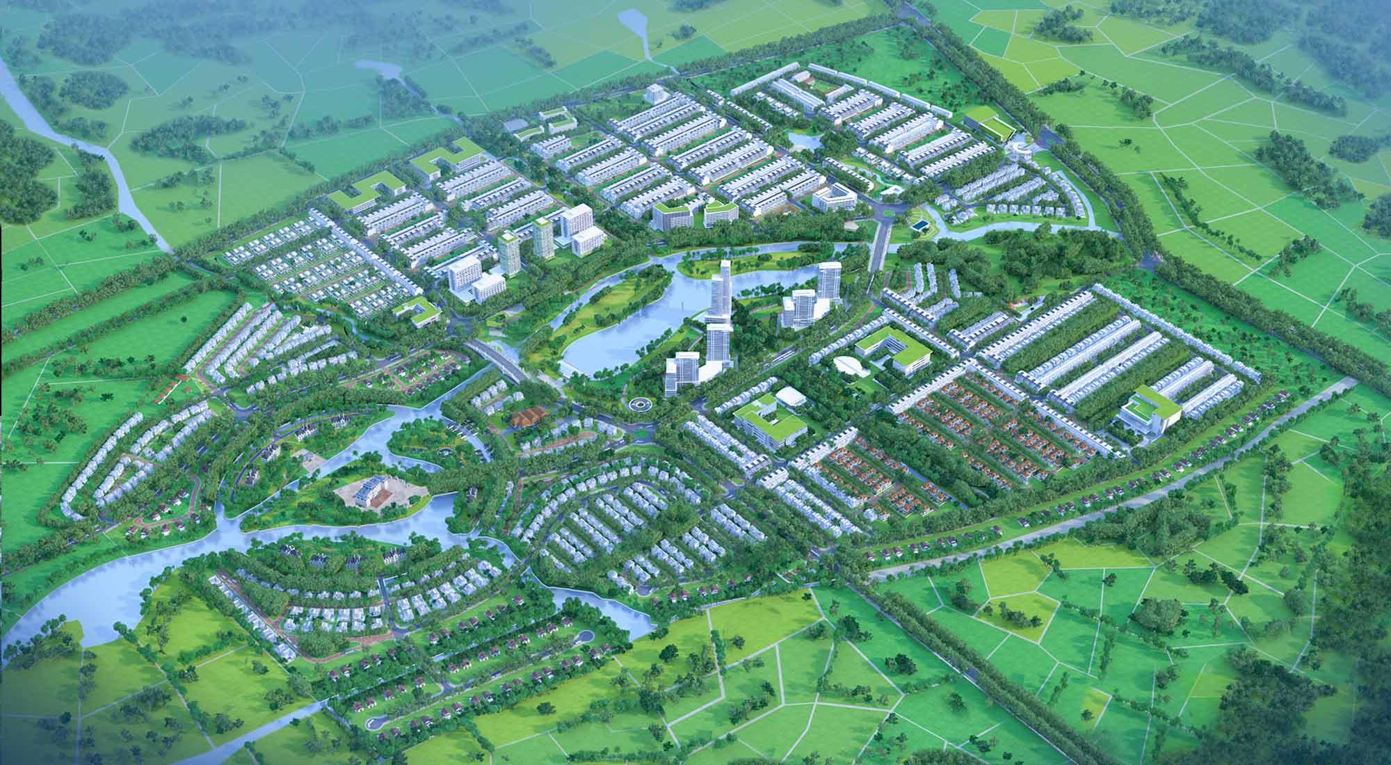Phối cảnh tổng thể dự án Five Star Eco City