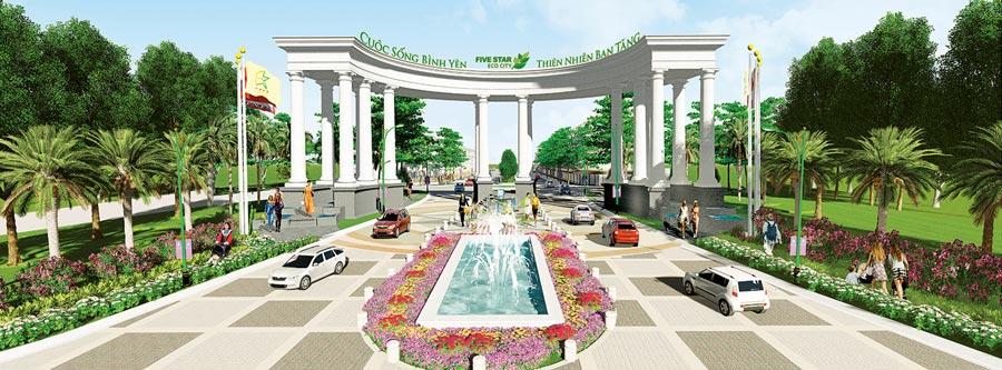 Cổng vào dự ánFive Star Eco City