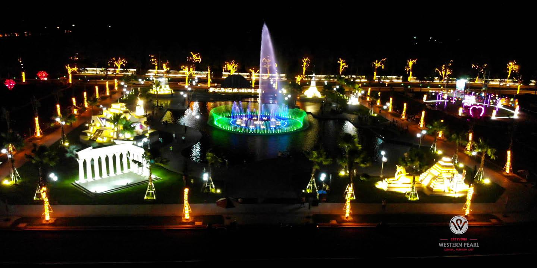 Công viên kỳ quan cổ đại về đêm