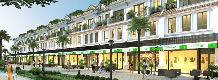 Phối cảnh dãy phố dự ánFive Star Eco City