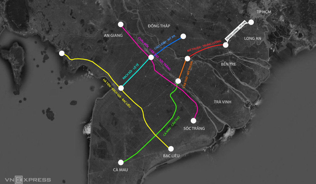 7 Dự án Cao Tốc ở đồng bằng sông Cửu Long 2