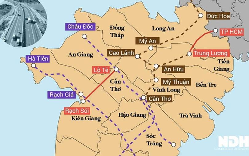 Hệ thống cao tốc Đồng bằng sông Cửu Long đang được hình thành như thế nào? 6